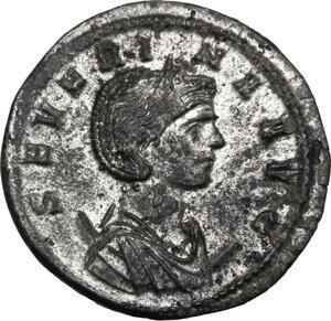 obverse: Severina, wife of Aurelian (270-275 AD).. BI Antoninianus, 275 AD. Ticinum mint