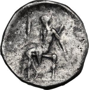 reverse: Southern Apulia, Tarentum. AR Nomos, c. 470-425 BC