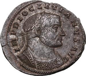 obverse: Diocletian (284-305).. AE Follis. Lugdunum, 301-303 AD