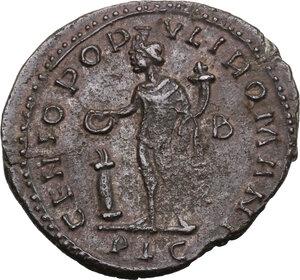 reverse: Diocletian (284-305).. AE Follis. Lugdunum, 301-303 AD