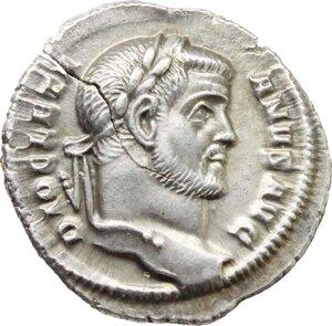 obverse: Diocletian (284-305).. AR Argenteus, 295-297 AD. Rome mint