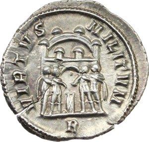 reverse: Diocletian (284-305).. AR Argenteus, 295-297 AD. Rome mint