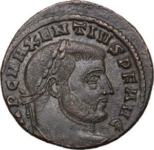 obverse: Maxentius (306-312).. AE Follis, Aquileia mint, 307 AD