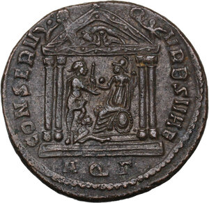 reverse: Maxentius (306-312).. AE Follis, Aquileia mint, 307 AD