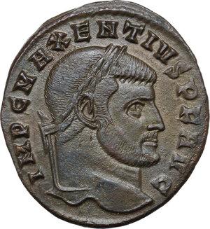 obverse: Maxentius (306-312).. AE Follis, 308/9-311 AD. Rome mint