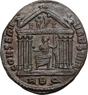 reverse: Maxentius (306-312).. AE Follis, 308/9-311 AD. Rome mint
