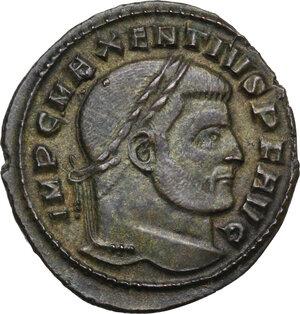 obverse: Maxentius (306-312).. AE Follis, 309-312. Ostia mint