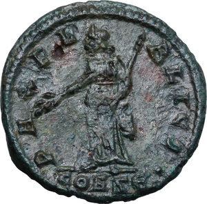 reverse: Helena, mother of Constantine I (Augusta 324-330).. AE Follis. Constantinople mint, 5th officina. Special issue for the dedication of newly enlarged city of Constantinople, 330 AD
