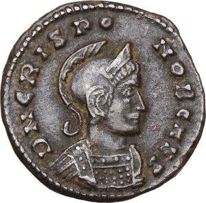 obverse: Crispus Caesar (317-326).. AE Follis, Lugdunum mint