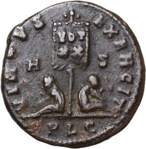 reverse: Crispus Caesar (317-326).. AE Follis, Lugdunum mint