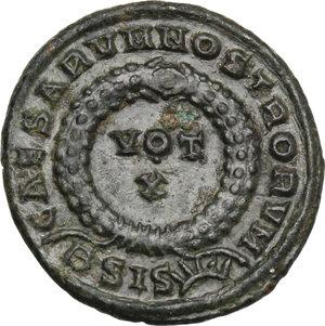 reverse: Crispus (Caesar, 317-326).. AE Follis. Siscia mint