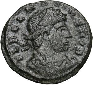 obverse: Delmatius (Caesar, 335-337).. AE 17 mm. Siscia mint
