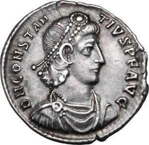 obverse: Constantius II (337-361).. AR reduced Siliqua, 351-354 AD. Sirmium mint