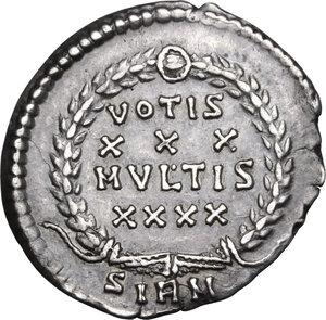 reverse: Constantius II (337-361).. AR reduced Siliqua, 351-354 AD. Sirmium mint