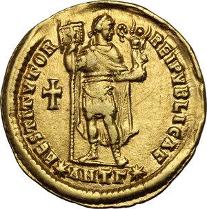 reverse: Valentinian I (364-375).. AV Solidus, Antioch mint, 365 AD