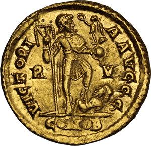 reverse: Honorius (393-423).. AV Solidus, Ravenna mint