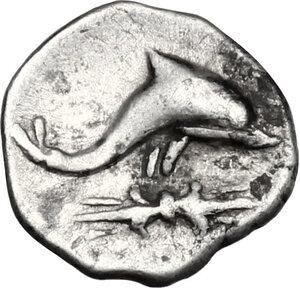 reverse: Southern Apulia, Tarentum. AR Hemilitron, c. 325-280 BC