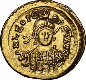 obverse: Leo I (457-474).. AV Solidus, Constantinople mint, 462 or 466 AD