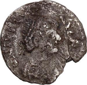 obverse: Ostrogothic Italy. Theodahad (534-536).. AR Half Siliqua in the name of Justinian I, Ravenna mint