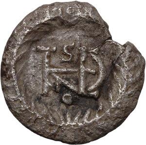reverse: Ostrogothic Italy. Theodahad (534-536).. AR Half Siliqua in the name of Justinian I, Ravenna mint