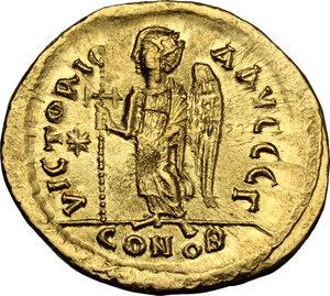 reverse: Justin I (518-527).. AV Solidus, Constantinople mint