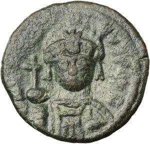 obverse: Justinian I (527-565).. AE Decanummium. Rome mint, circa 547-549