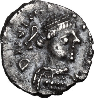 obverse: Justinian I (527-565).. AR Quarter Siliqua, Ravenna mint
