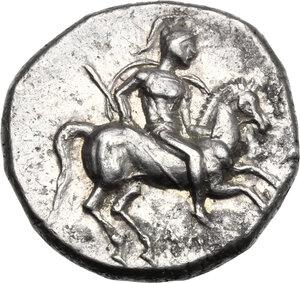 obverse: Southern Apulia, Tarentum. Fourrée Nomos, c. 272-240 BC