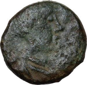 obverse: Justinian I (527-565).. AE Nummus, Uncertain mint (Ravenna?)
