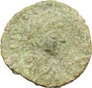 obverse: Justinian I (527-565).. AE Half Follis. Salona (?) mint