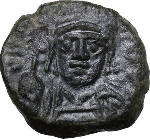 obverse: Justinian I (527-565).. AE Decanummium, Ravenna mint