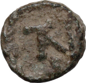 reverse: Justinian I (527-565).. AE Nummus, Uncertain mint (Ravenna or Constantinopolis?)