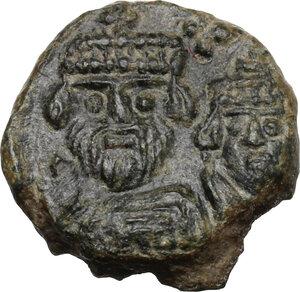 obverse: Heraclius (610-641). AE Decanummium, Catania mint