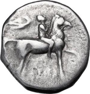 obverse: Southern Apulia, Tarentum. AR Nomos, c. 272-240 BC