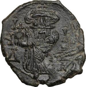 obverse: Constans II (641-668).. AE Follis, Syracuse mint
