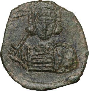 obverse: Constantine IV Pogonatus (668-685). AE Follis, Syracuse mint