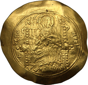 obverse: John II Comnenus (1118-1143).. AV Hyperpyron. Thessalonica mint. Struck circa 1137-1143