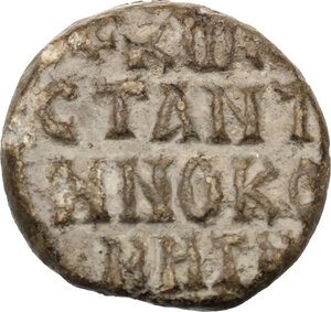 reverse: PB Seal of Constantine Comes, 8th-9th century