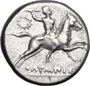 obverse: Southern Apulia, Tarentum. AR Nomos, c. 240-228 BC