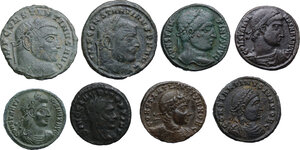 obverse: The Roman Empire. Temp. of Constantine I. . Multiple lot of eight (8) unclassified AE Follis