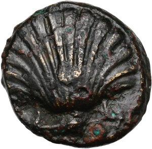 obverse: Southern Apulia, Tarentum. AE 13.5 mm. c. 275-200 BC