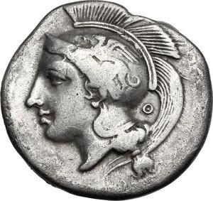 obverse: Northern Lucania, Velia. AR Didrachm, c. 340-334 BC