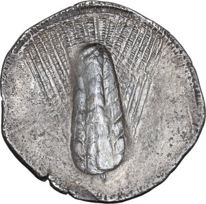 reverse: Southern Lucania, Metapontum. AR Stater, 540-510 BC