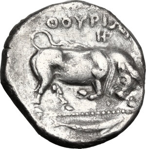 reverse: Southern Lucania, Thurium. AR Stater, c. 400-350 BC