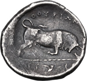 reverse: Southern Lucania, Thurium. AR Stater, c. 350-300 BC
