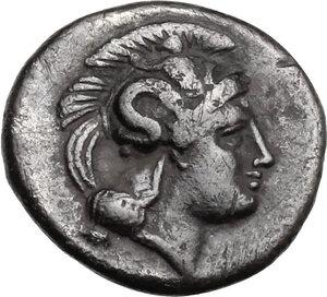 obverse: Southern Lucania, Thurium. AR Diobol, c. 350-300 BC