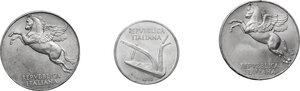 obverse: Lotto di tre (3) monete: 10 Lire 1949 e 1950, 10 Lire 1952 (FDC sigillata Aurora)