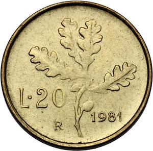 reverse: 20 Lire 1981 testa pelata