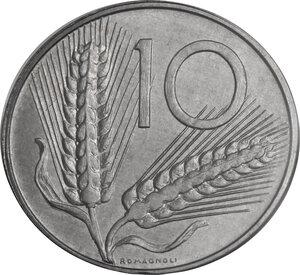 reverse: 10 Lire 1991 asse ruotato