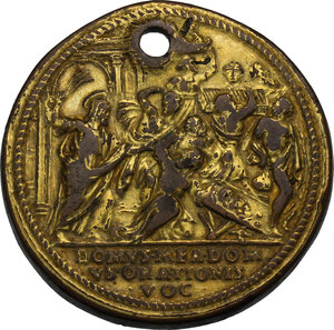 reverse: Pio V (1566 - 1572), Antonio Michele Ghislieri.. Medaglia (1570) per la riforma del clero